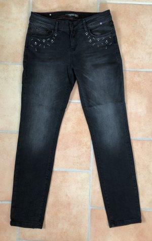 H.I.S Jeans a gamba dritta antracite