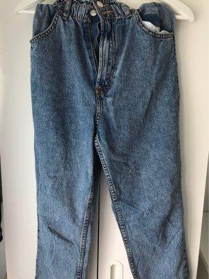 H&M Divided Jeansy z prostymi nogawkami szary niebieski