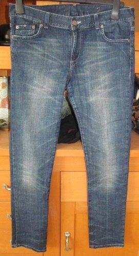 H&M Jeansy z prostymi nogawkami chabrowy