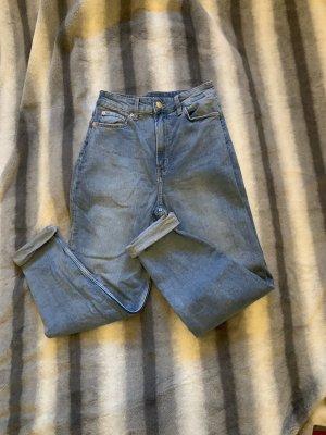H&M Jeansy z prostymi nogawkami stalowy niebieski-niebieski