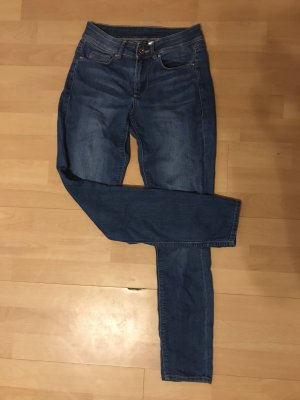 H&M Tube jeans donkerblauw