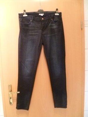 Jeans von H&M Gr.42 dunkelblau schmales Bein used look