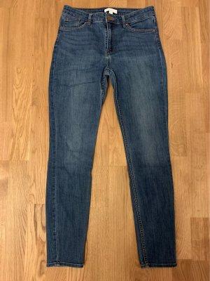 Jeans von H&M  Größe 38  Blau mit Knöpfen in Kupfer