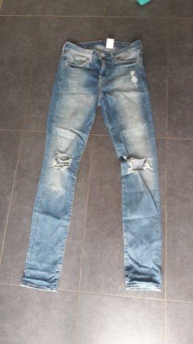 H&M Pantalon cigarette gris ardoise-bleu