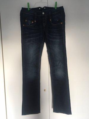 Blaustoff Herrlicher Jeans bootcut gris vert-bleu foncé