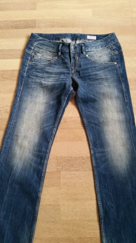Herrlicher Jeansy z prostymi nogawkami niebieski