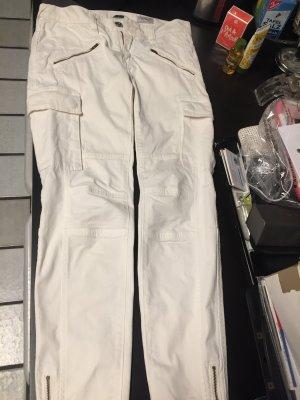 Herrlicher Jeans vita bassa bianco Cotone