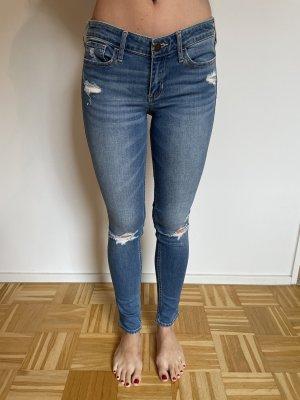 Hollister Jeans a sigaretta blu-azzurro