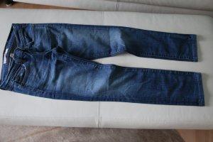 J brand Jeans cigarette bleu acier coton
