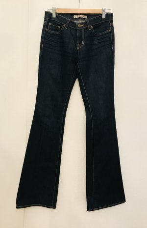 JBRAND Jeans flare bleu foncé coton