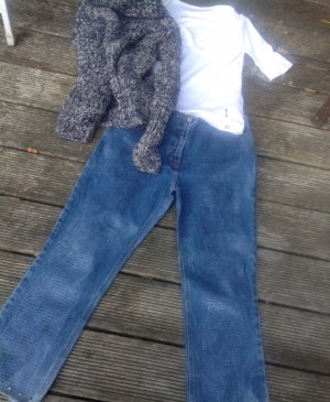Kathleen Madden Jeans a 7/8 blu acciaio Cotone