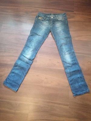 Killah Jeansy z prostymi nogawkami ciemnoniebieski Elastan