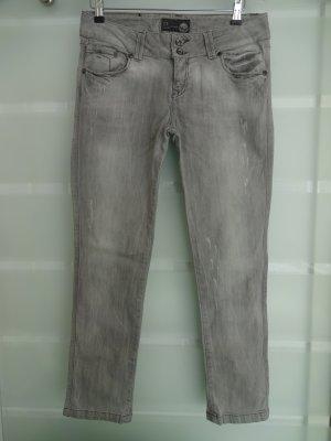 LTB Low Rise Jeans light grey cotton