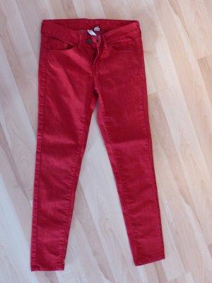 Mango Jeansy z prostymi nogawkami czerwony