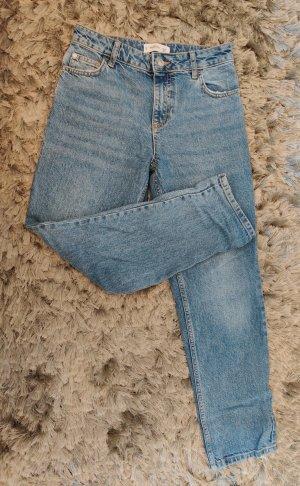 Mango Jeans coupe-droite bleu azur