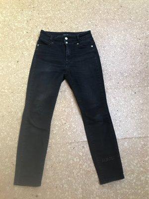 Marc Cain Jeans taille haute noir-gris