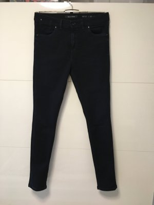 Marc O'Polo Hoge taille jeans donkerblauw Katoen