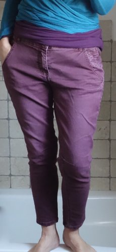 Jeansy typu boyfriend bordo-purpurowy Bawełna