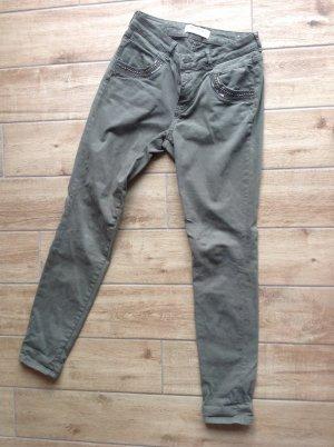 Mos Mosh Slim jeans khaki Katoen