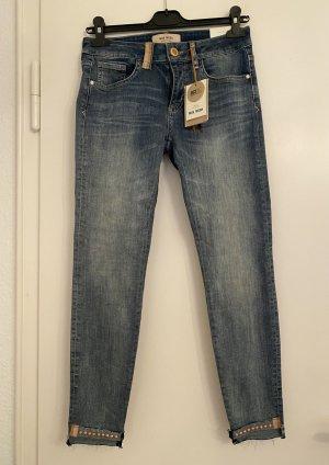 Mos Mosh Jeans stretch bleu foncé tissu mixte