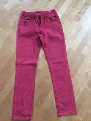 Opus Jeansy z prostymi nogawkami ceglasty