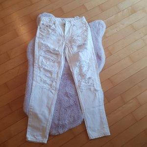Pepe Jeans Jeans a gamba dritta bianco