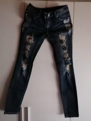 Rainbow Slim Jeans blue cotton