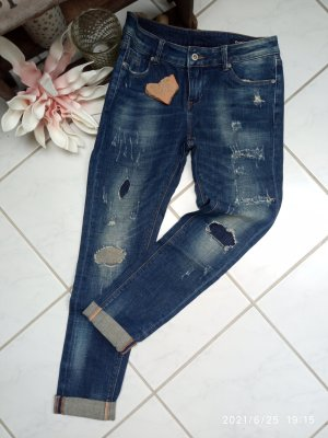 Remixx Jeans Boyfriend Trousers dark blue
