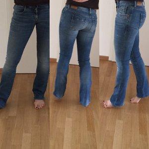 Replay Jeansy z prostymi nogawkami stalowy niebieski Bawełna