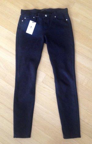 Jeans von Seven, Gr 29 ( wie 38 ), Skinny, Velourlederoptik