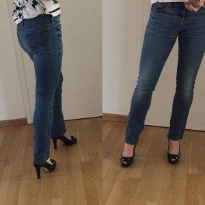 7 For All Mankind Jeans met rechte pijpen staalblauw Katoen