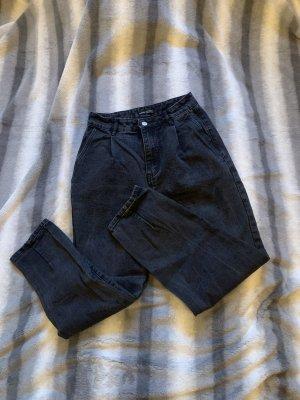 SheIn High Waist Jeans black-dark grey