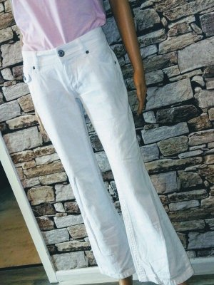 Street One Denim Flares white cotton