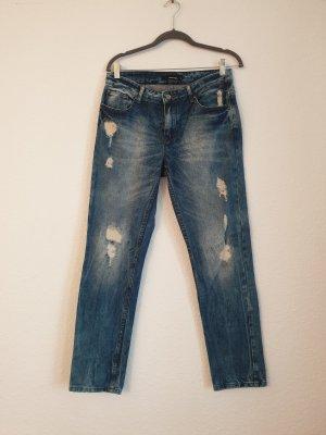 Tally Weijl Jeansy z prostymi nogawkami niebieski