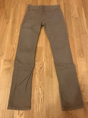 American Apparel Stretch Jeans light brown cotton