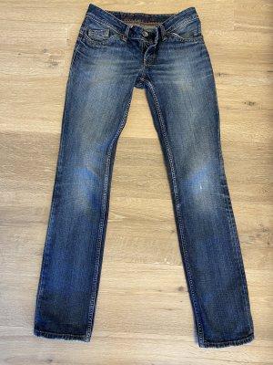 Tommy Hilfiger Denim Jeans vita bassa blu fiordaliso