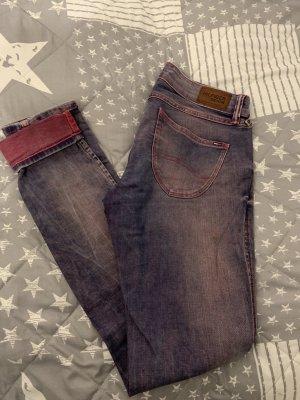 Tommy Hilfiger Jeans elasticizzati blu acciaio-rosa