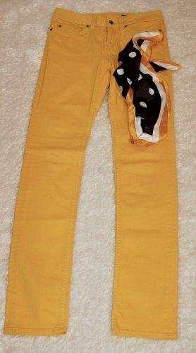 Tommy Hilfiger Pantalon cinq poches jaune foncé coton