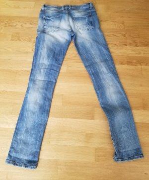Zara Straight Leg Jeans blue-neon blue