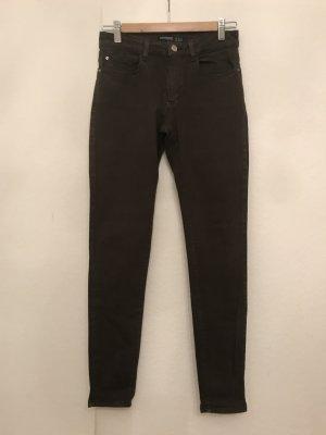 Zara Basic Vaquero pitillo gris oscuro Algodón