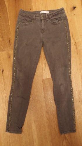 Zara Jeans slim gris foncé