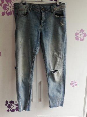 Zara Jeans 7/8 bleuet