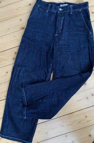 Carhartt Jeans 7/8 bleu foncé coton