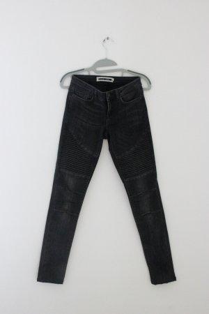 Noisy May Jeans a vita alta nero Cotone
