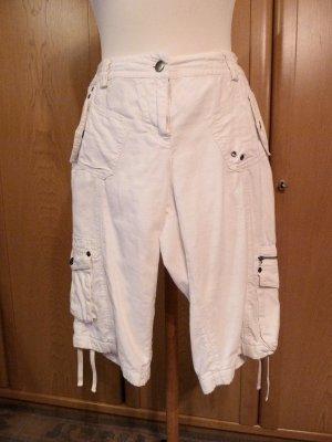 Pantalone a 3/4 bianco