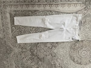 7 For All Mankind Jeans skinny bianco Cotone