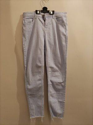Jeans weiß/blau