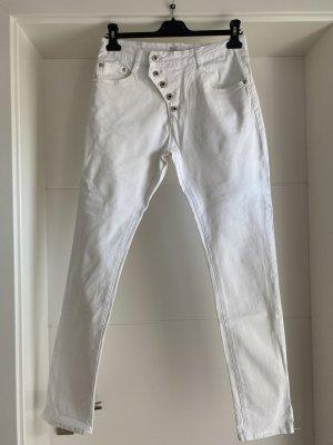 place du jour Pantalon cinq poches blanc coton