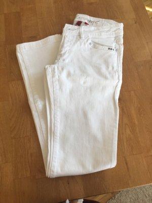edc by Esprit Jeansy z prostymi nogawkami biały Bawełna