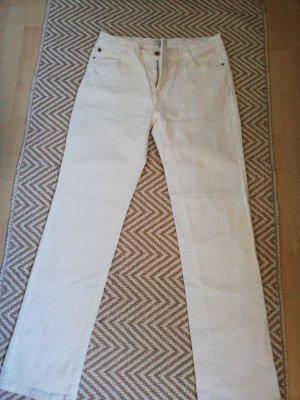Cortefiel Pantalón de cinco bolsillos blanco
